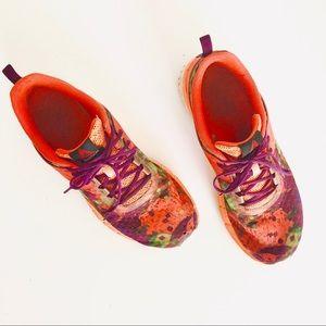 REEBOK Water Color Neon Print Athletic Sneaker